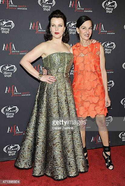 Debi Mazar and Cynthia Rowley attend the AAFA American Image Awards at 583 Park Avenue on April 27 2015 in New York City