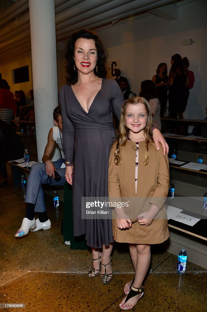 <a gi-track='captionPersonalityLinkClicked' href=/galleries/search?phrase=Debi+Mazar&family=editorial&specificpeople=212937 ng-click='$event.stopPropagation()'>Debi Mazar</a> and daughter Giulia Corcos attend the Costello Tagliapietra show during Spring 2014 MADE Fashion Week at Milk Studios on September 5, 2013 in New York City.