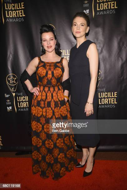 Debi Mazar and Sutton Foster attend 32nd Annual Lucille Lortel Awards at NYU Skirball Center on May 7 2017 in New York City