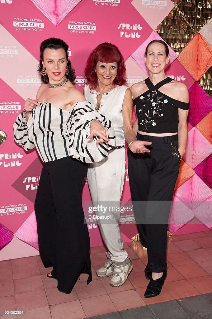 Debi Mazar honoree Patricia Field and Miriam Shor attend The Lower Eastside Girls Club Spring Fling 2016 at The Bowery Terrace at the Bowery Hotel on...