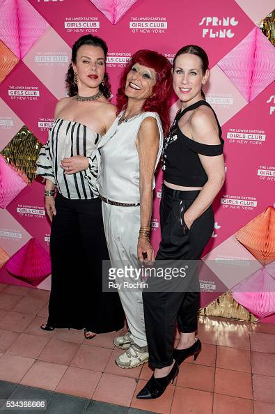 Debi Mazar Patricia Fields and Miriam Shor attend The Lower Eastside Girls Club Spring Fling 2016 at The Bowery Terrace at the Bowery Hotel on May 25...