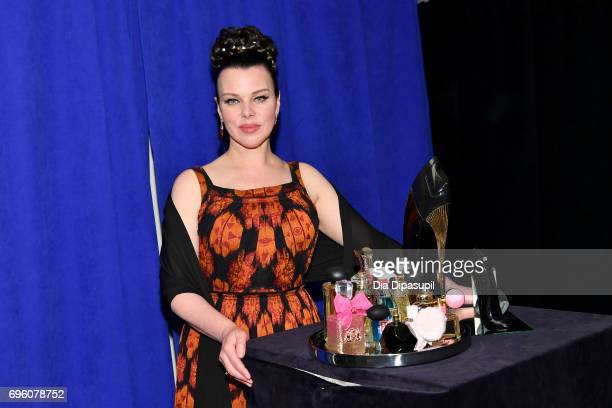 Debi Mazar poses backstage at the 2017 Fragrance Foundation Awards Presented By Hearst Magazines at Alice Tully Hall on June 14 2017 in New York City