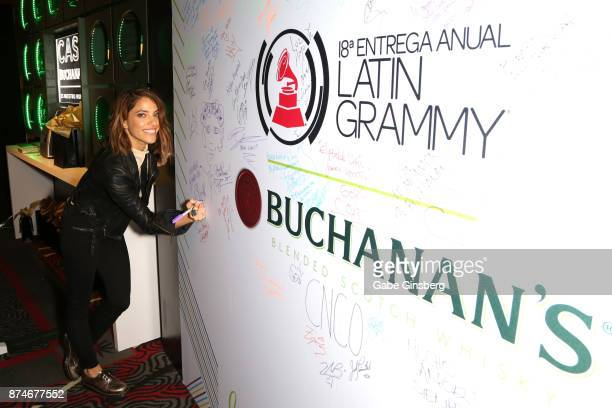 Debi Nova attends the gift lounge during the 18th annual Latin Grammy Awards at MGM Grand Garden Arena on November 15 2017 in Las Vegas Nevada