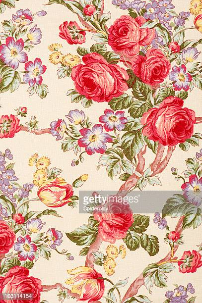 Debonair Close Up Antique Floral Fabric