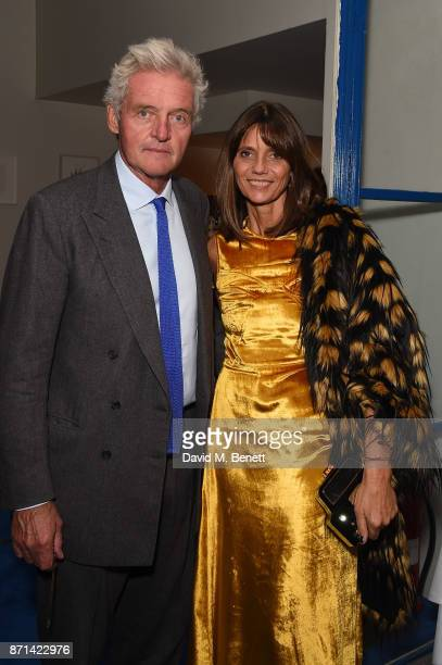 Debonaire von Bismarck and Leopold Von Bismarck attends a dinner hosted by Jonathan Newhouse and Albert Read for Edward Enninful to celebrate the...
