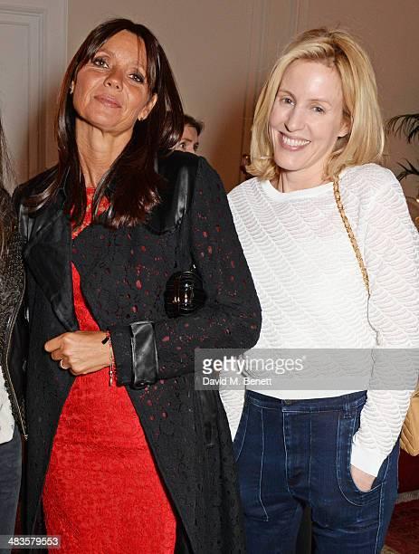 Debonaire von Bismarck and Sydney IngleFinch attend the Sabine G Harlequin Collection launch hosted by jewellery designer Sabine Ghanem and Joseph...