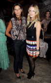 Debonnaire Von Bismarck and Eugenie Niarchos attend a party celebrating the launch of the Muzungu Sisters popup shop in the Mo Cafe at Momo...