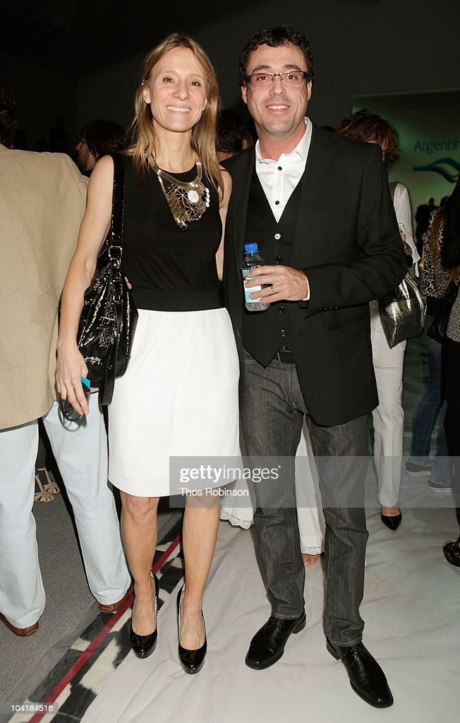 Debora Bandura and Javier Goicoechea attend the Argentina Group Show Spring 2011 fashion show during Mercedes-Benz Fashion Week at The Stage at Lincoln Center on September 16, 2010 in New York City.