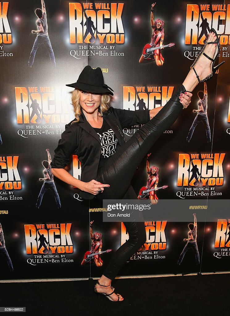 Debora Krizak arrives ahead of We Will Rock You Opening Night at Lyric Theatre, Star City on May 5, 2016 in Sydney, Australia.