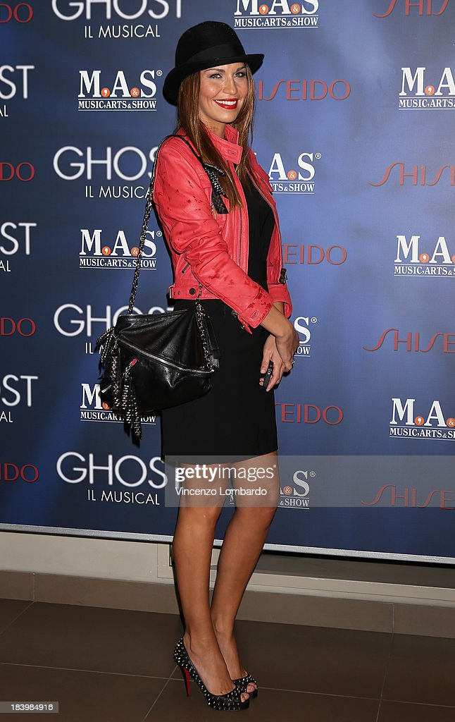 Debora Salvalaggio attends the opening night of 'Ghost - The Musical' at the Teatro Nazionale on October 10, 2013 in Milan, Italy.