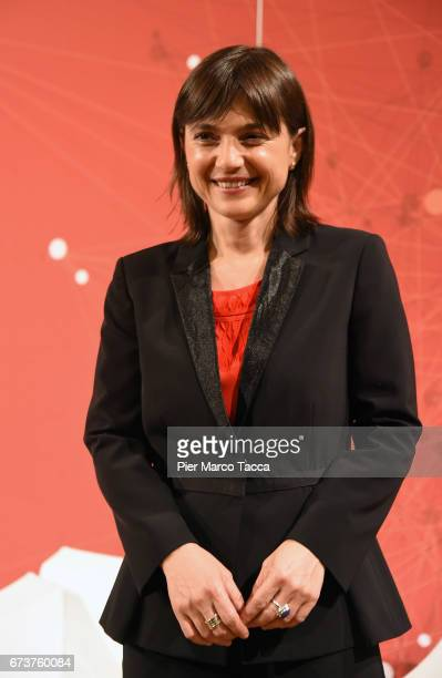 Debora Serracchiani attends the 'Il Tempo Del Leone' book presentation on April 26 2017 in Trieste ItalyThe Assicurazioni Generali insurance company...