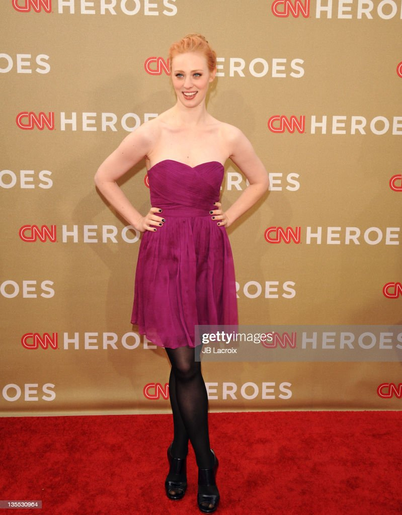 Deborah Ann Woll arrives at the 2011 CNN Heroes: An All-Star Tribute held at The Shrine Auditorium on December 11, 2011 in Los Angeles, California.