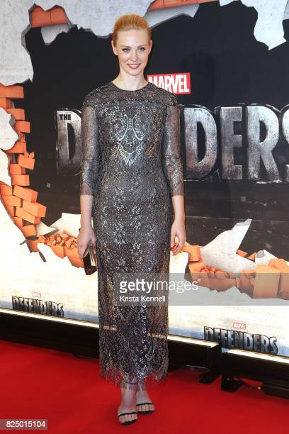 Deborah Ann Woll arrives to the 'Marvel's The Defenders' New York Premiere at Tribeca Performing Arts Center on July 31 2017 in New York City