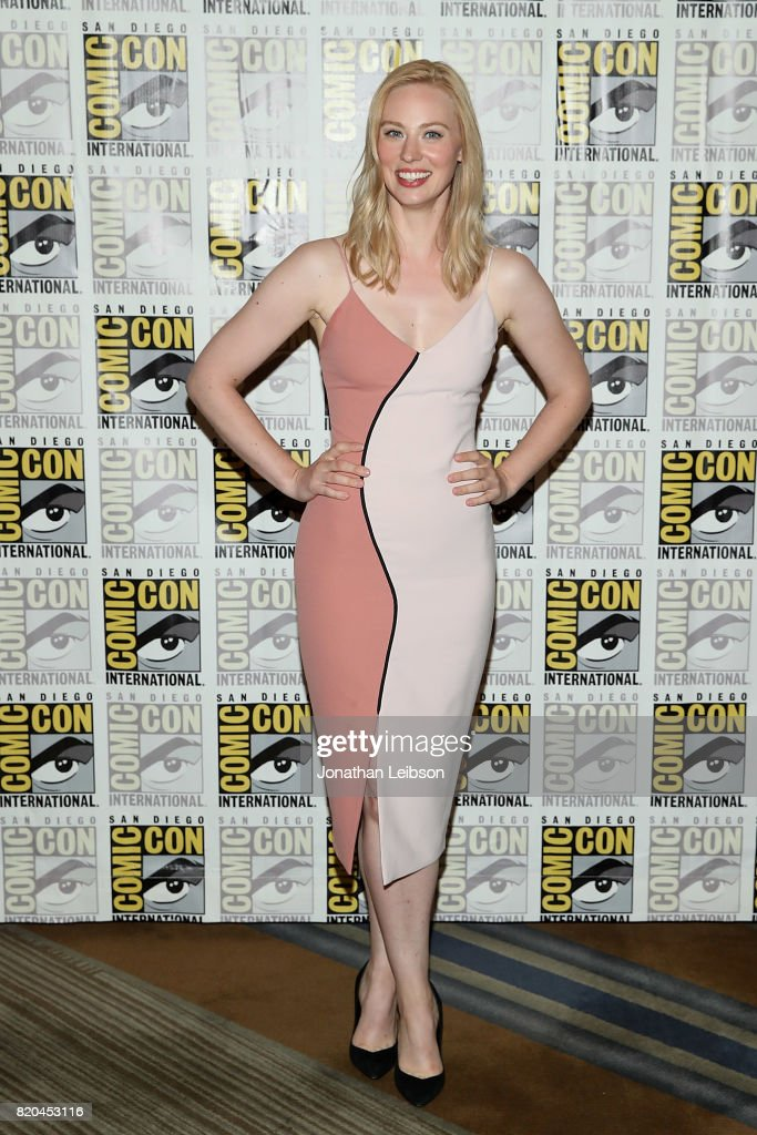Deborah Ann Woll attends Marvel's 'The Defenders' press line at Comic-Con International 2017 day 2 on July 21, 2017 in San Diego, California.