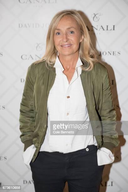 Deborah Bibby arrives at the David Jones Canali Launch at Restaurant Hubert on April 27 2017 in Sydney Australia