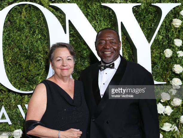Deborah Brevoort and Chuck Cooper attend the 71st Annual Tony Awards at Radio City Music Hall on June 11 2017 in New York City