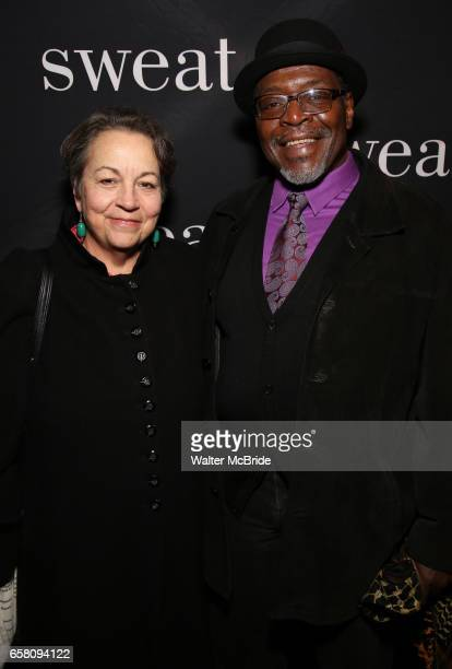 Deborah Brevoort and Chuck Cooper attend the Broadway Opening Night Production of 'Sweat' at studio 54 Theatre on March 26 2017 in New York City