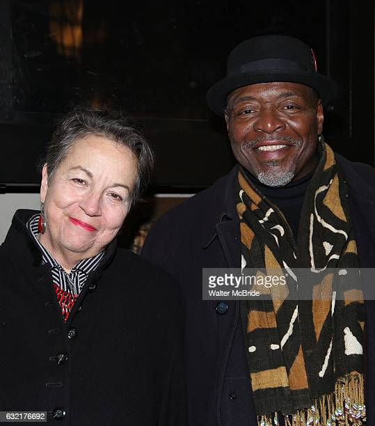 Deborah Brevoort and Chuck Cooper attend the Manhattan Theatre Club's Broadway debut of August Wilson's 'Jitney' at the Samuel J Friedman Theatre on...