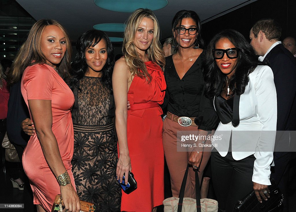 Deborah Cox, Kerry Washington, Molly Sims, Rachel Roy and June Ambrose attend World Ocean Day 2011 celebrated by La Mer and Oceana at Affirmation Arts on May 18, 2011 in New York City.