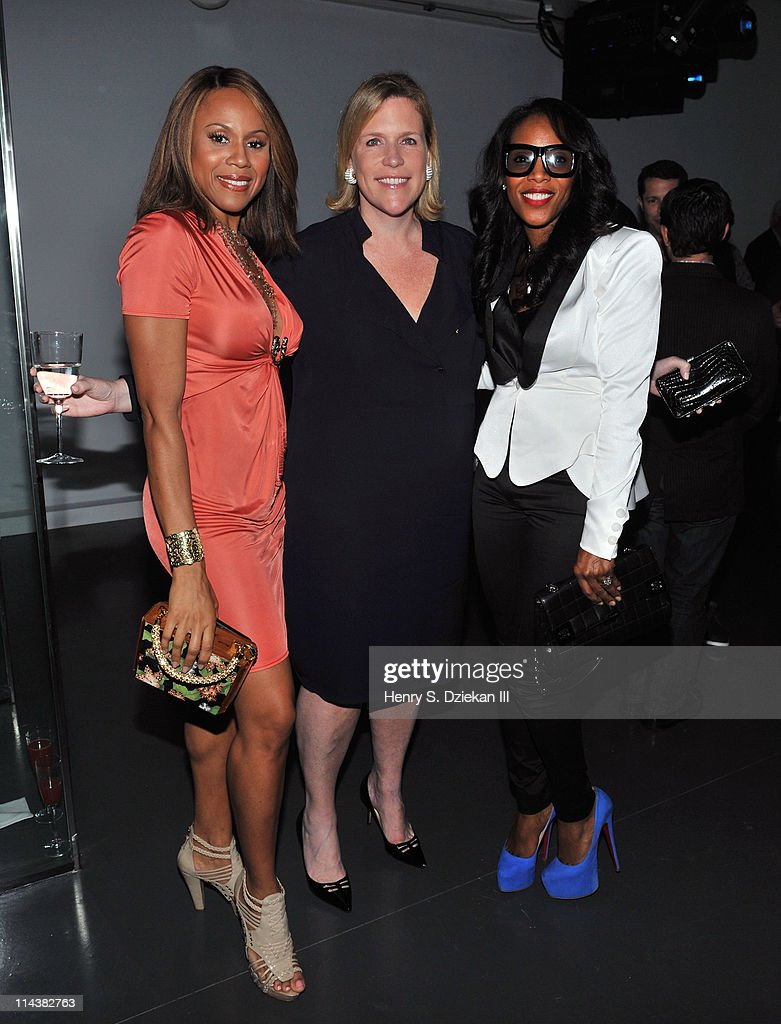 Deborah Cox, Marjorie Gubelmann and June Ambrose attend World Ocean Day 2011 celebrated by La Mer and Oceana at Affirmation Arts on May 18, 2011 in New York City.