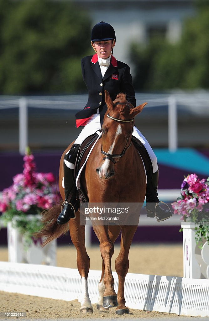 Deborah Criddle of Great Britain rides LJT Akilles to Silver during the Equestrian Dressage Individual Freestyle Test - Grade III on day 6 of the London 2012 Paralympic Games at Greenwich Park on September 4, 2012 in London, England.