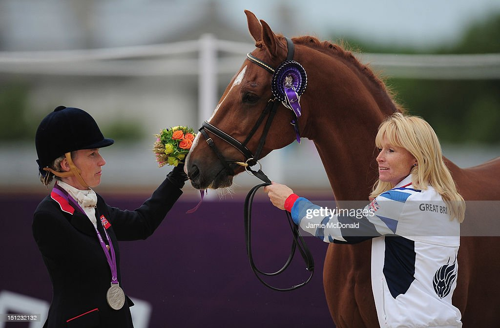 Deborah Criddle of Great Britain wins Silver during the Equestrian Dressage Individual Freestyle Test - Grade III on day 6 of the London 2012 Paralympic Games at Greenwich Park on September 4, 2012 in London, England.