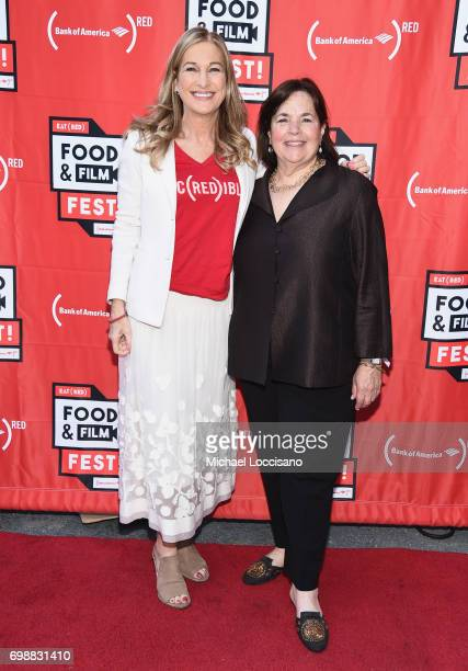 CEO Deborah Dugan and chef Ina Garten arrive at EAT Food Film Fest at Bryant Park on June 20 2017 in New York City Photo by Michael Loccisano/Getty...