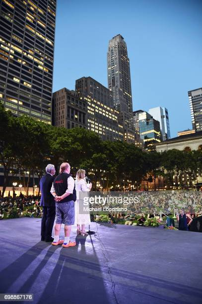 DEO Deborah Dugan speaks onstage during EAT Food Film Fest at Bryant Park on June 20 2017 in New York City Photo by Michael Loccisano/Getty Images for