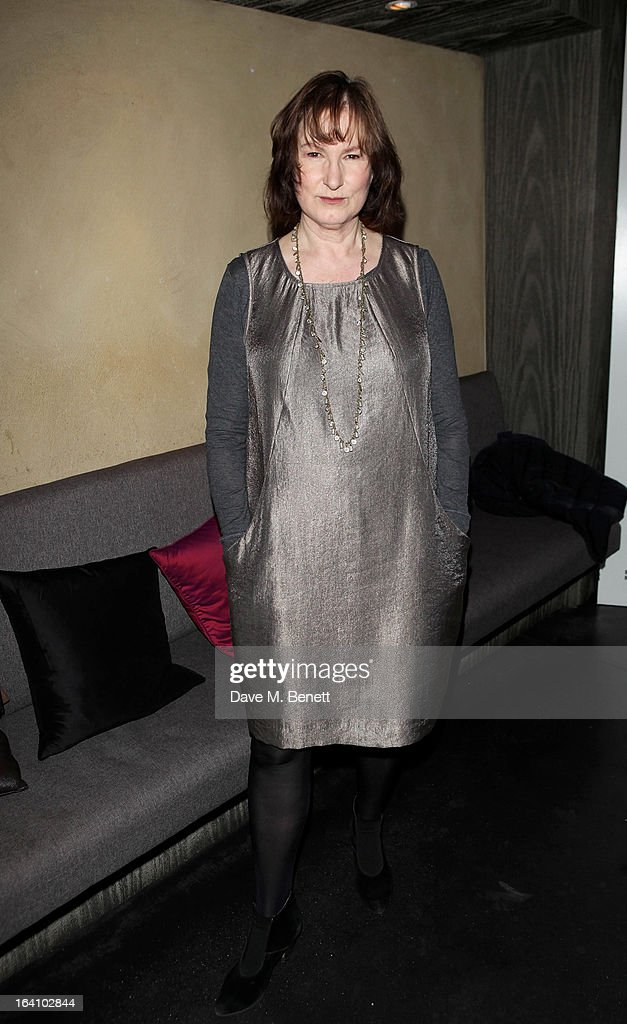 Deborah Findlay attends an after party following the press night performance of The Old Vic's 'The Winslow Boy' at Baltic Restaurant on March 19, 2013 in London, England.