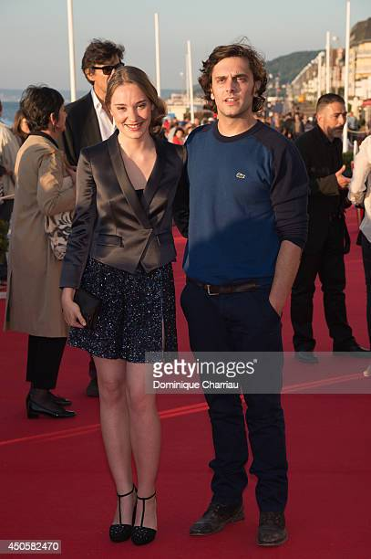 Deborah Francois and Pio Marmai attend the 28th Cabourg Film Festival Day 3 on June 13 2014 in Cabourg France