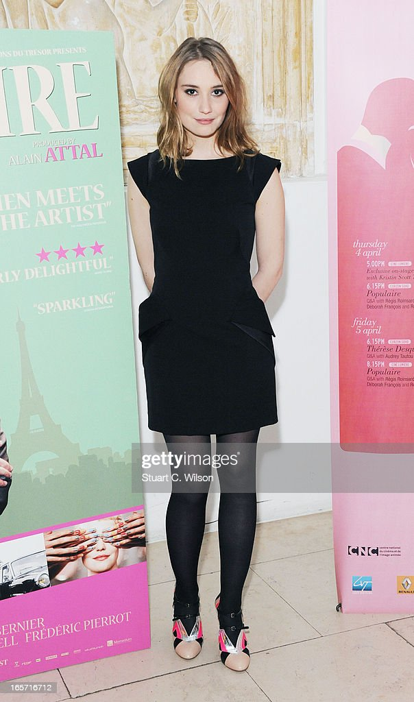 Deborah Francois attends a screening of 'Populaire' as part of Rendezvous with French cinema at Cine Lumiere on April 5, 2013 in London, England.