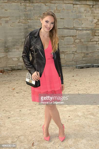 Deborah Francois attends the Elie Saab show as part of the Paris Fashion Week Womenswear Spring/Summer 2015 on September 29 2014 in Paris France