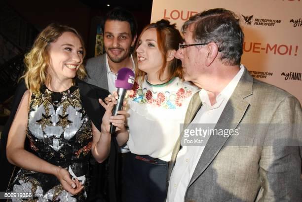 Deborah Francois Marc Ruchmannl Aison Wheeler and Bernard Menez attend Loue Moi Paris Premiere at Gaumont Opera Capucines on July 3 2017 in Paris...