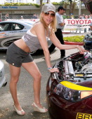 Deborah Gibson during Toyota Pro/Celebrity Long Beach Grand Prix Race Celebrity Race Day at Streets of Long Beach in Long Beach California United...