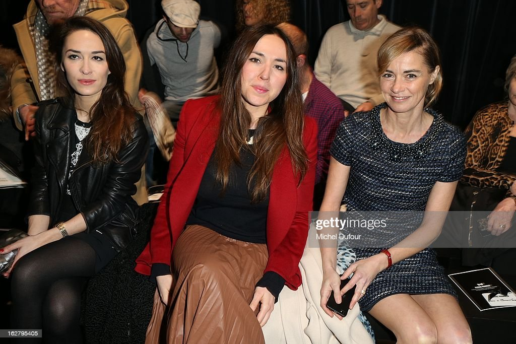 Deborah Grall and Anne Consigny attend the Alexis Mabille Fall/Winter 2013 Ready-to-Wear show as part of Paris Fashion Week on February 27, 2013 in Paris, France.