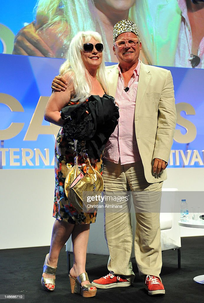 Deborah Harry (L) and Tim Mellors attend the Grey Seminar as part of Cannes Lions 59th International Festival of Creativity on at Palais des Festivals on June 22, 2012 in Cannes, France.
