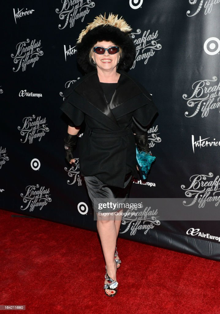 Deborah Harry attends 'Breakfast At Tiffany's' Broadway Opening Night at Cort Theatre on March 20, 2013 in New York City.