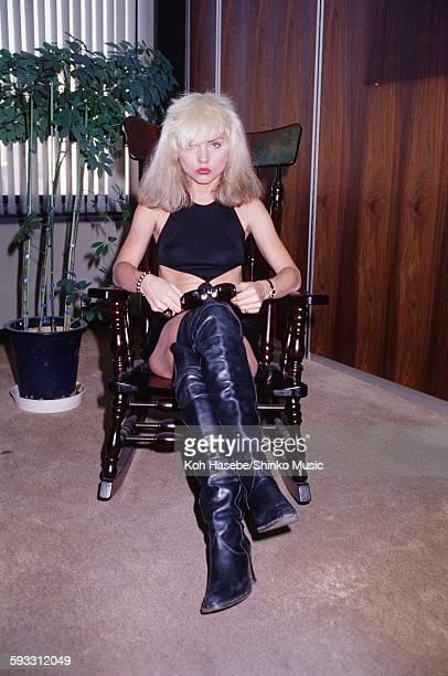 Deborah Harry Blondie visiting Shinko Music Tokyo January 1978