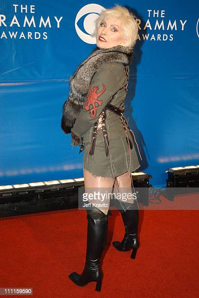Deborah Harry during The 45th Annual GRAMMY Awards Arrivals at Madison Square Garden in New York NY United States