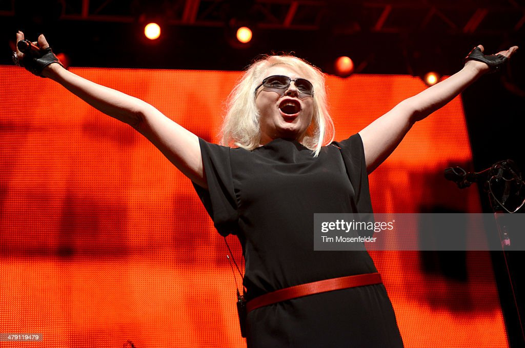 Deborah Harry of Blondie performs during Perez Hilton's 7th annual One Night in Austin at the Austin Music Hall on March 15, 2014 in Austin, Texas.