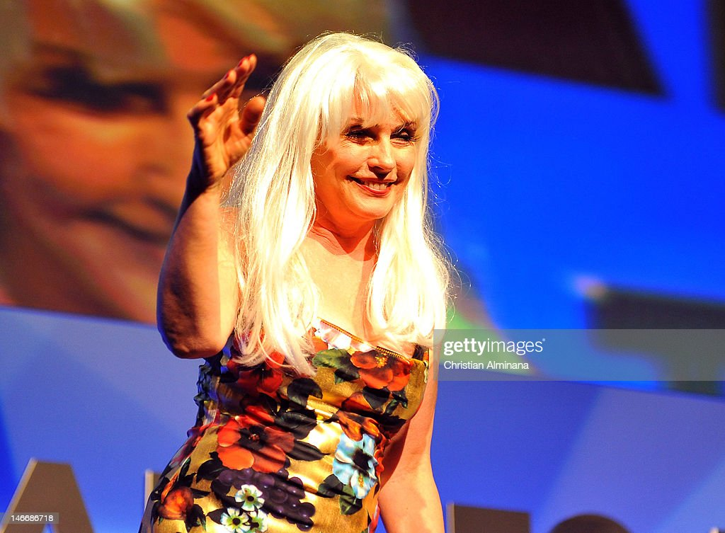 Deborah Harry performs on stage during the Grey Seminar as part of Cannes Lions 59th International Festival of Creativity on at Palais des Festivals on June 22, 2012 in Cannes, France.