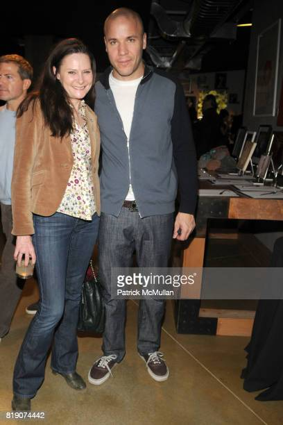 Deborah Hughes and Brian Farrell attend FIRST BLOOM Art and Photography Auction to Benefit The FRIENDS OF THE HIGH LINE at Equinox on March 18 2010...