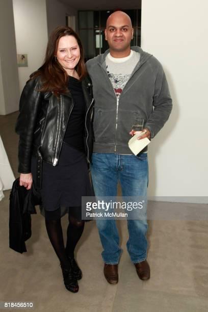 Deborah Hughes and Pankaj Shah attend Reception For PATTI SMITH And STEVEN SEBRING TONIC Board of Creators at Robert Miller Gallery on January 12...