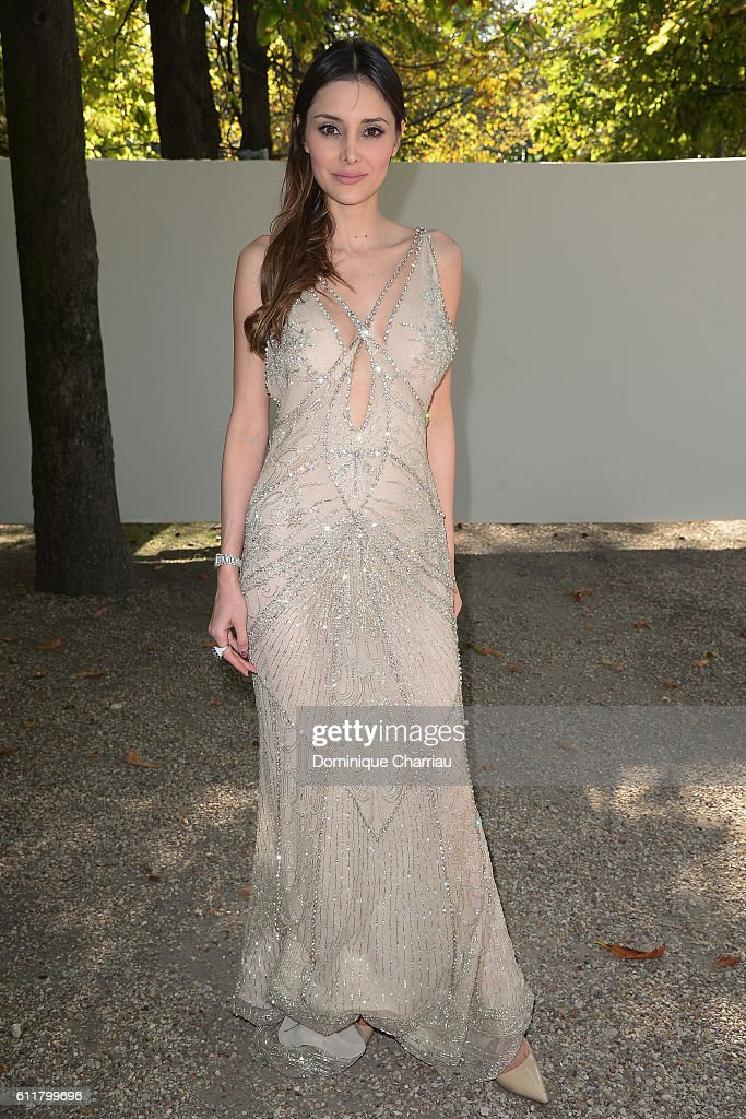 Deborah Hung attends the Elie Saab show as part of the Paris Fashion Week Womenswear Spring/Summer 2017 on October 1, 2016 in Paris, France.
