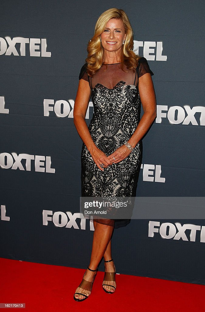 <a gi-track='captionPersonalityLinkClicked' href=/galleries/search?phrase=Deborah+Hutton&family=editorial&specificpeople=226814 ng-click='$event.stopPropagation()'>Deborah Hutton</a> poses during the 2013 Foxtel Launch at Fox Studios on February 20, 2013 in Sydney, Australia.