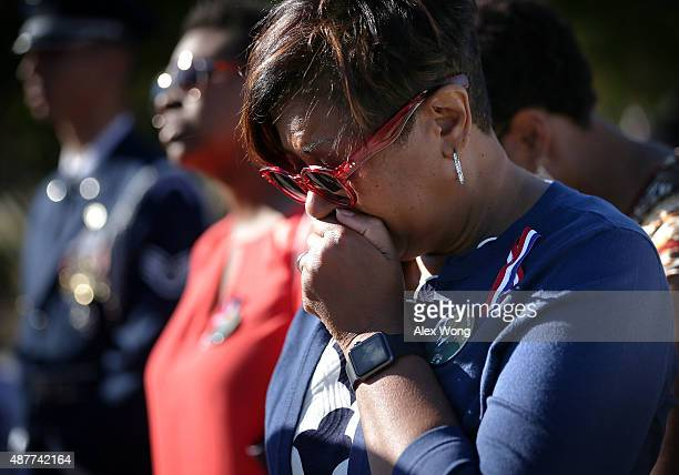 Deborah Ivory of Baltimore Maryland remembers her husband Army Sgt Maj Lacey B Ivory who has lost his life in the 9/11 Pentagon attack during an...