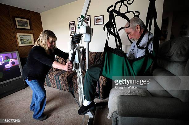 ENDLIFE_041608_CFW Deborah Jones cares for her husband Gary who suffers from Lou Gehrig's disease and in enrolled in Hospice in Grad Junction Deborah...