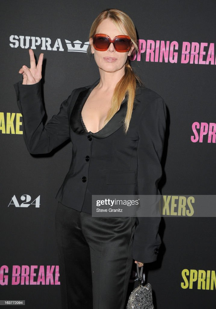 Deborah Kara Unger arrives at the 'Spring Breakers' Los Angeles Premiere at ArcLight Hollywood on March 14, 2013 in Hollywood, California.