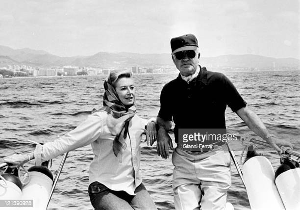 Deborah Kerr and her husband Peter Viertel in Marbella 25th May 1974 Malaga Spain