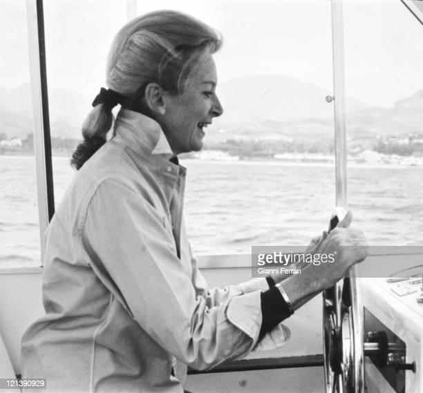 Deborah Kerr in Marbella 25th May 1974 Malaga Spain